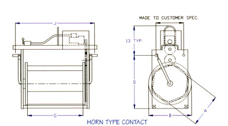 Horn Type Contact